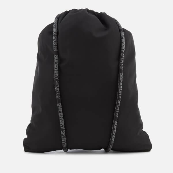 Superdry Sport Men s Drawstring Sports Bag - Black Reflective Womens ... 27494f923c1a4