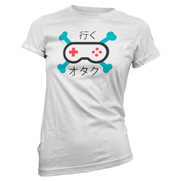 T-Shirt Femme Go Gamer JPN - Blanc