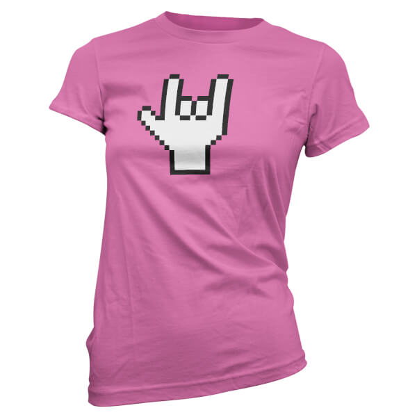 Pixel Rocker Women's Pink T-Shirt