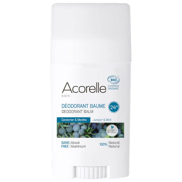 Acorelle Organic Juniper and Mint Deodorant Balm 40g