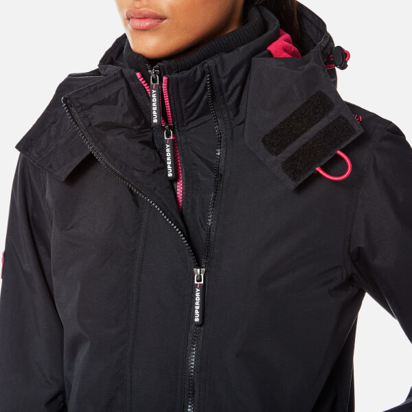 Superdry Women s Arctic Windcheater Jacket - Black Raspberry Womens ... 2e868ed14