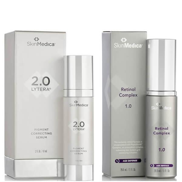 SkinMedica LYTERA 2.0 Pigment Correcting Serum and Retinol Complex 1.0 (Worth $246)