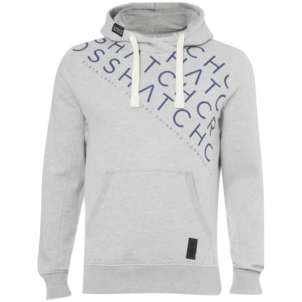 Crosshatch Men's Leeroy Hoody - Light Grey Marl