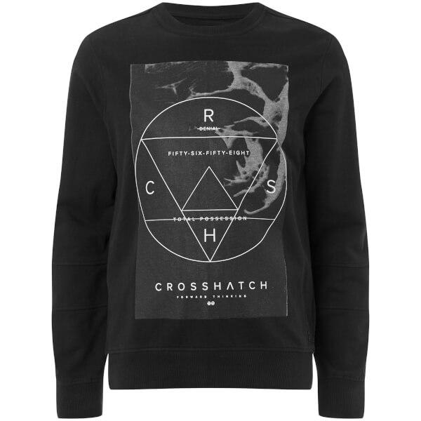Crosshatch Men's Zerrick Sweatshirt - Black