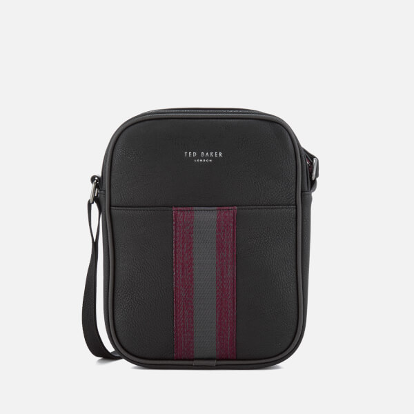 5358db447 Ted Baker Men s Kondoor Webbing Mini Flight Bag - Black  Image 1