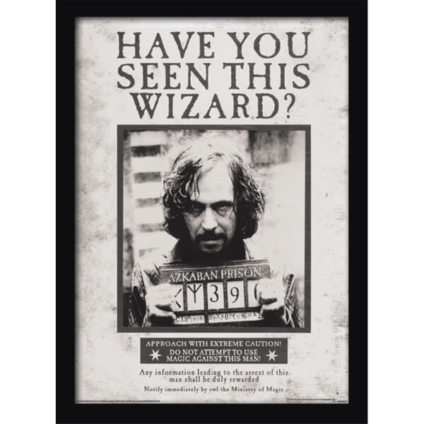 Póster Harry Potter Sirius Black Wanted - Enmarcado (30 cm x 40 cm ...
