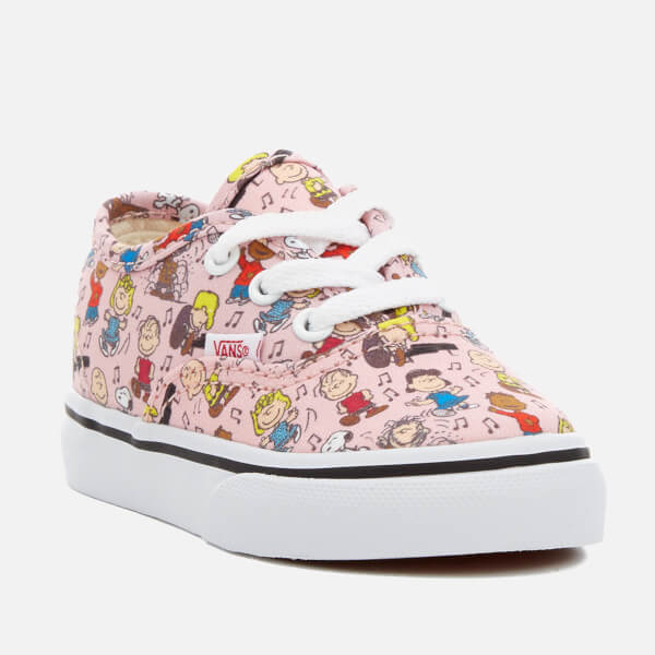 18445d0db4 Vans X Peanuts Toddlers  Authentic Trainers - Dance Party Pink  Image 2