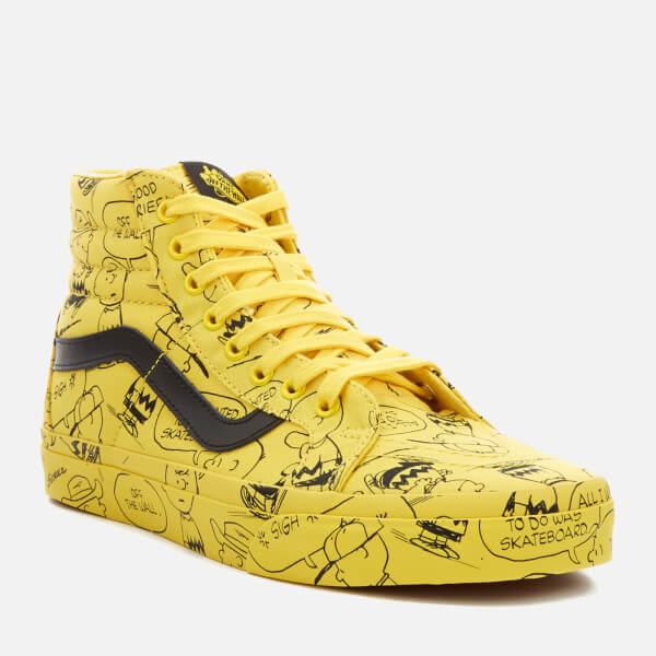 9321c9e25b Vans X Peanuts Men s SK8-Hi Reissue Trainers - Charlie Brown Maize  Image
