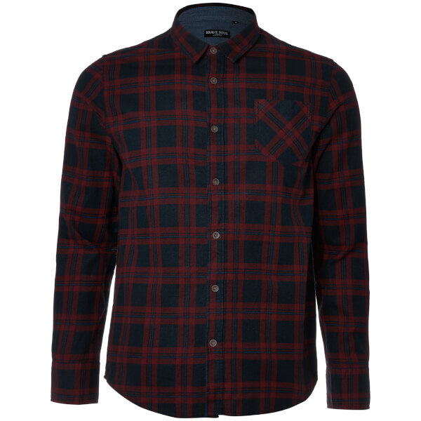 Brave Soul Men's Duffey Check Shirt - Navy/Red/Blue