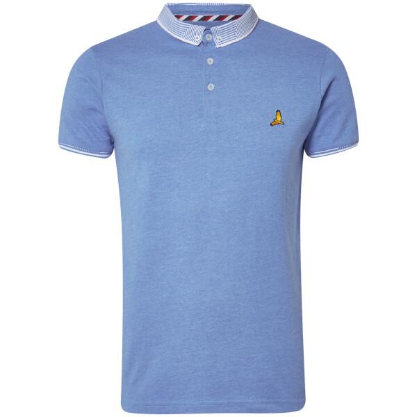 Brave Soul Men's Glover Polo Shirt - Sky Blue Marl