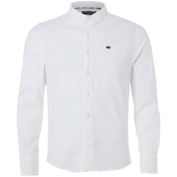 Brave Soul Men's Pompeii Shirt - White