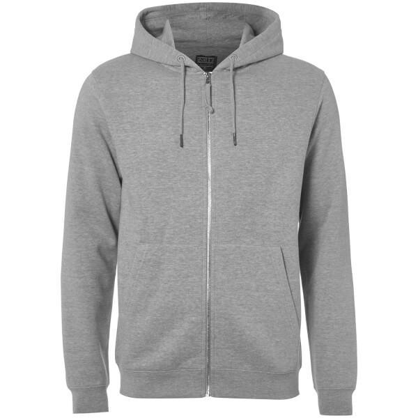 D-Struct Men's Zip Through Hoody - Grey Marl