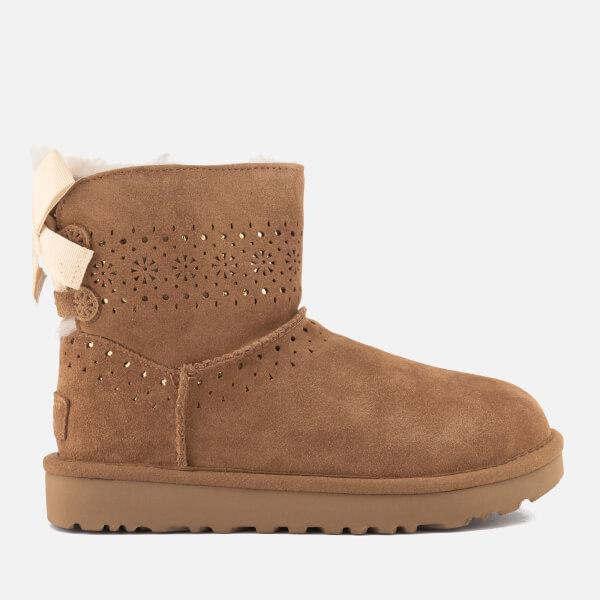 UGG Women's Dae Sunshine Perf Suede Sheepskin Boots - Chestnut - UK 8.5 zuhwyeX