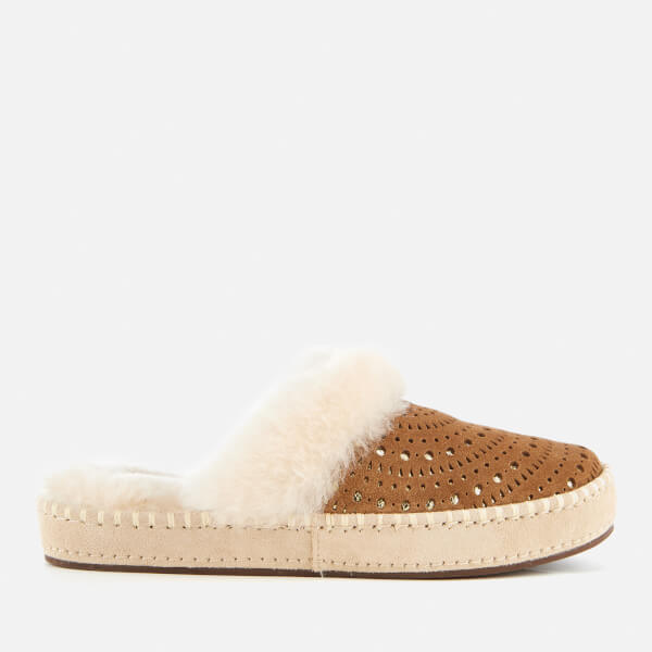 UGG Women's Aira Sunshine Perf Slippers - Chestnut