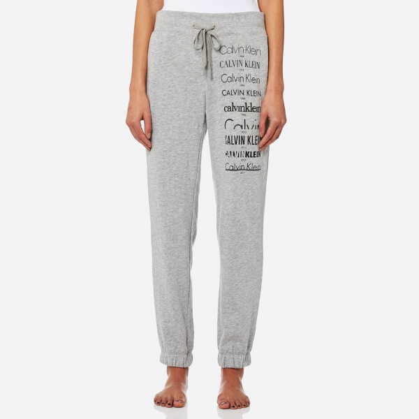 Calvin Klein Women S Logo Joggers Grey Heather Free Uk