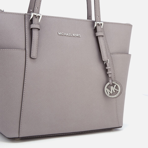0f2c9373d93b MICHAEL MICHAEL KORS Women's Jet Set East West Top Zip Tote Bag - Pearl Grey :
