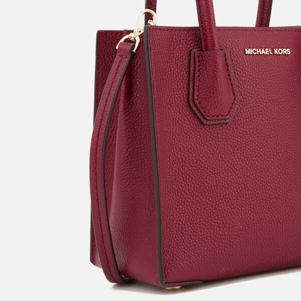 305f1b3b50 ... real michael michael kors womens mercer medium tote bag mulberry image  4 db9e9 a9a6f