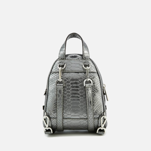ca32aa7d5b5a MICHAEL MICHAEL KORS Women s Rhea Zip Extra Small Messenger Backpack -  Pewter  Image 2