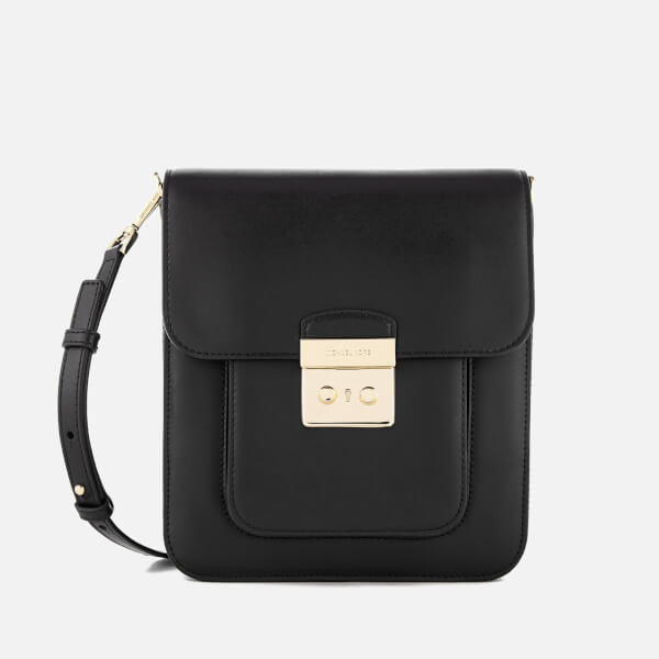 4cb1b248a6 MICHAEL MICHAEL KORS Women s Sloan Editor Large North South Messenger Bag -  Black  Image 1