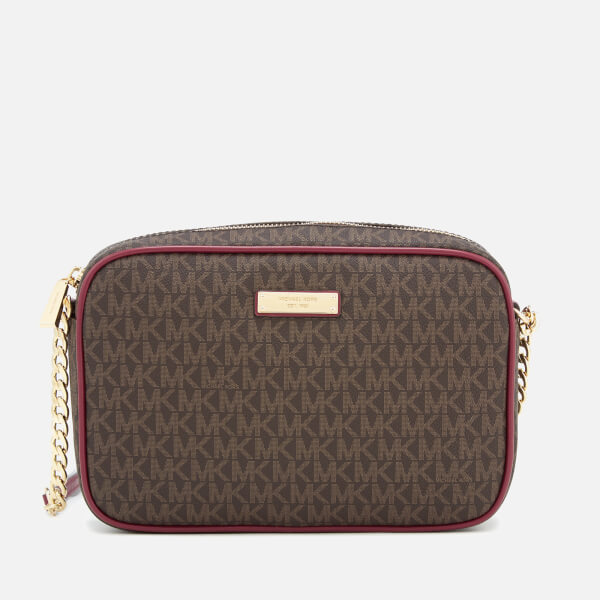 c449bc4279a7 MICHAEL MICHAEL KORS Women's Large East West Cross Body Bag - Brown/Mulberry:  Image