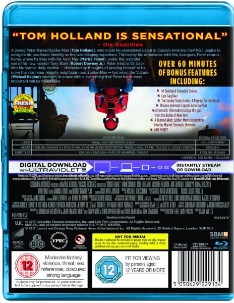 Spider Man Homecoming Blu Ray Comic Book Blu Ray Zavvi