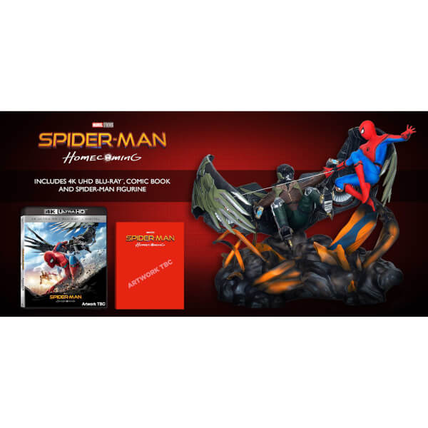 Spider-Man Homecoming - 4K Ultra HD - Figurine + Comic Book