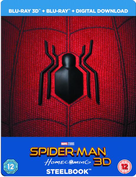 bb31f5ec59b8 Spider-Man Homecoming 3D (Includes 2D Version) - Limited Edition Steelbook  + Resin. VANS x Marvel Spider-Man Boys T-Shirt