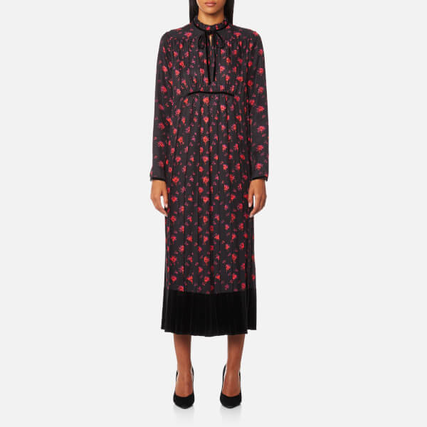 McQ Alexander McQueen Women's Long Pleated Dress - Amp Floral