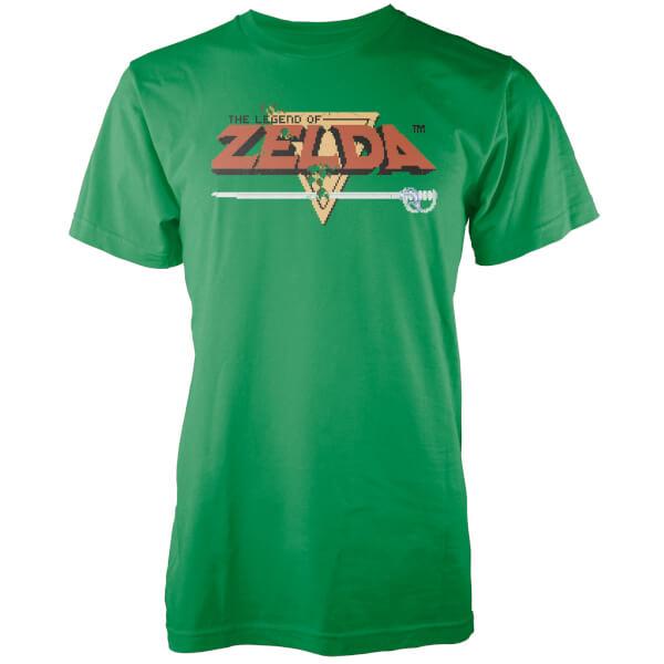 Nintendo The Legend Of Zelda Retro Logo Men's Green T-Shirt