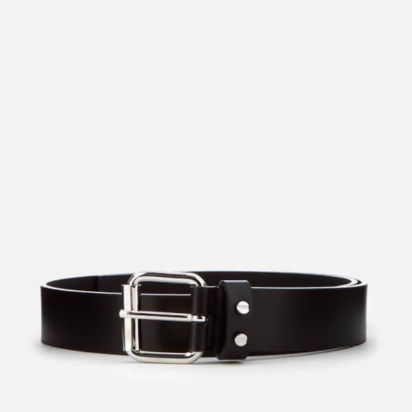 McQ Alexander McQueen Men's Roller Buckle Tip Belt - Black