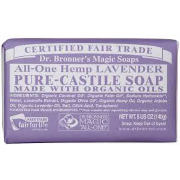 Dr Bronner Lavender Bar Soap