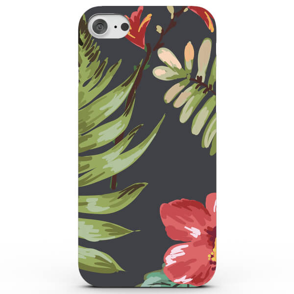 Tropical Flowers and Leafs Phone Case for iPhone & Android