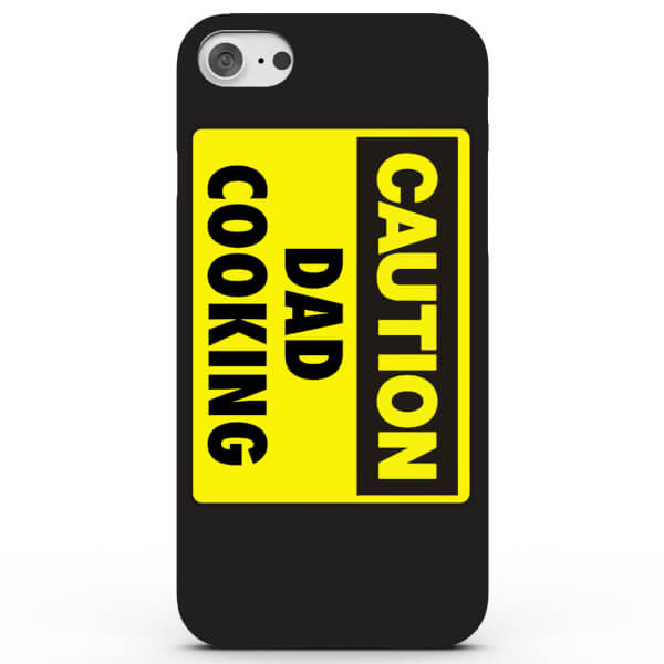 Coque iPhone & Android Caution Dad Cooking - 4 Couleurs