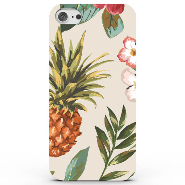 Pineapples and Tropical Flowers Phone Case for iPhone & Android