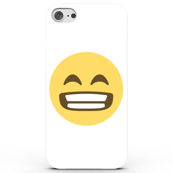Coque iPhone & Android Emoji Grand Sourire - 4 Couleurs
