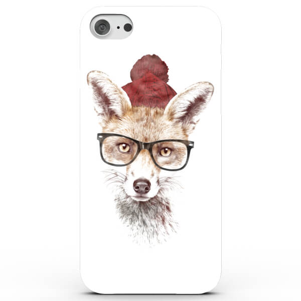Cool Fox Hat and Glasses Phone Case for iPhone & Android - White
