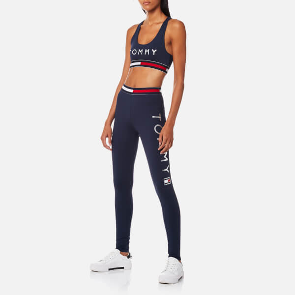 b37327dca6 Tommy Hilfiger Women s Active Wear Crop Sports Top - Peacoat Womens ...