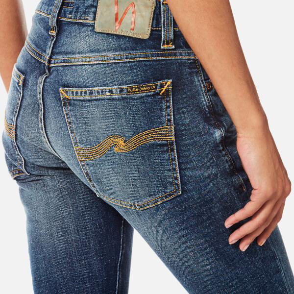 Nudie Jeans Womenu0026#39;s Tight Terry Jeans - Double Indigo ...