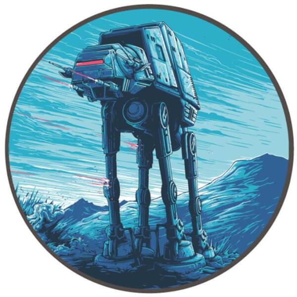 Badge Rond en Émail Attack Pattern Delta - Exclusivité pour Zavvi Star Wars Dan Mumford (4cm de Diamètre)