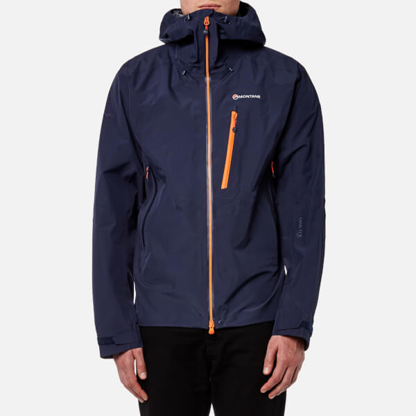 montane men s alpine pro gore tex jacket antarctic blue burnt rh thehut com Under Armour Jackets Montane Jacket Grey