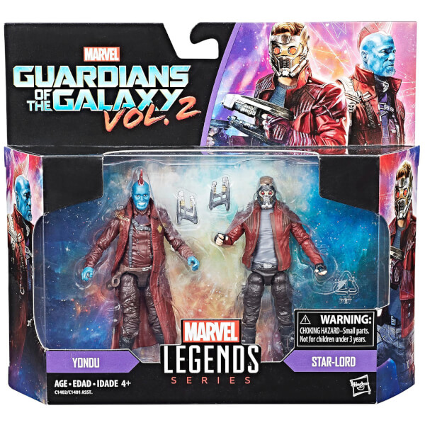 Hasbro Marvel Legends Series Star Lord and Youndu 2 Pack ...
