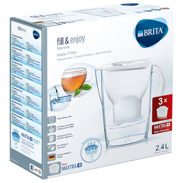 brita maxtra marella cool water filter jug starter pack with 3 cartridges white homeware. Black Bedroom Furniture Sets. Home Design Ideas