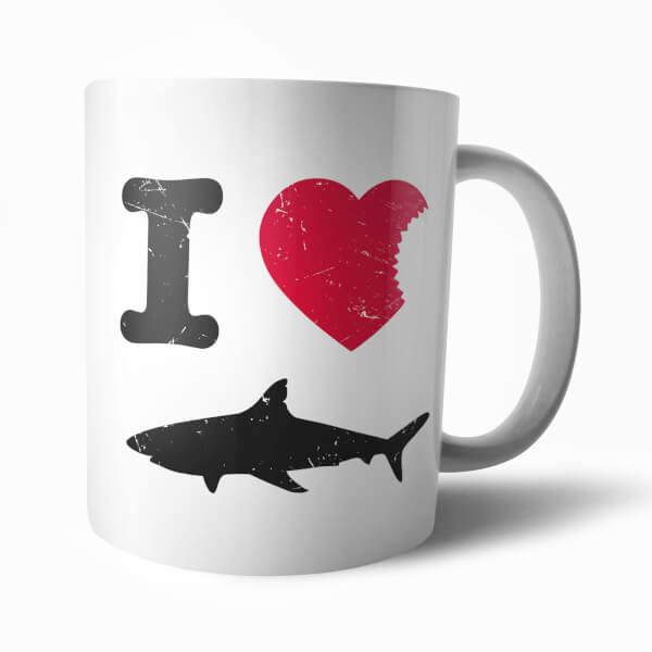 I Heart Sharks Mug