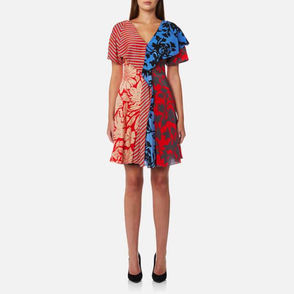 ruffle front dress - White Diane Von F ylsYs