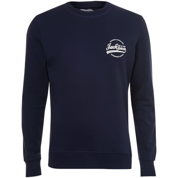 Jack & Jones Originals Men's Raf Small Logo Sweatshirt - Total Eclipse