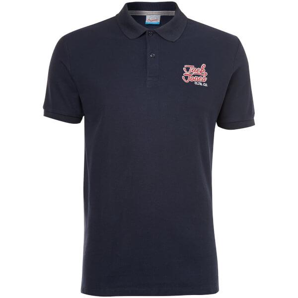 Jack & Jones Originals Men's Authentic Polo Shirt - Total Eclipse