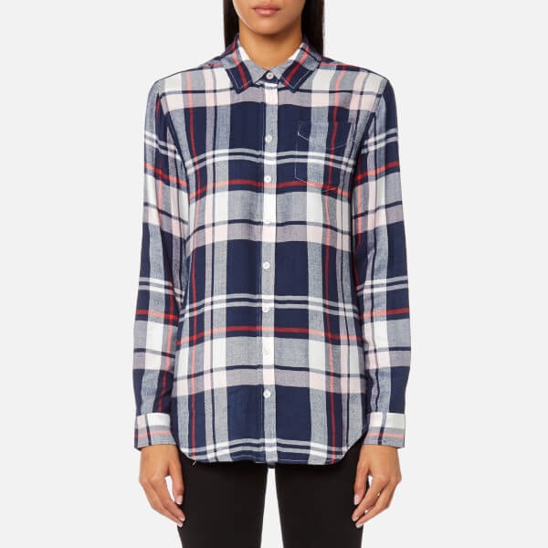 Clearance Authentic Big Discount Online Joules Women's Laurel Long Line Shirt - Navy Multi Check - UK 12 - Multi Buy Cheap Comfortable For Nice ci29B0grb