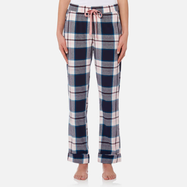 Joules Women's Snooze Woven Pyjama Bottoms - Navy Pink Check