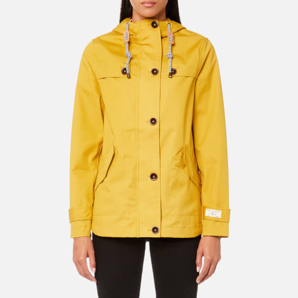 0a24e7c1a8f Joules Women s Coast Waterproof Hooded Jacket - Antique Gold Womens ...