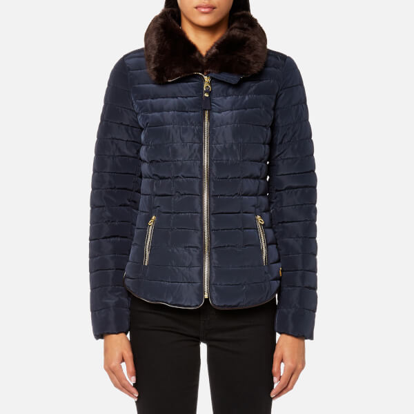 Joules Women S Gosfield Short Padded Coat Marine Navy